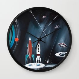 Space Cityscape Wall Clock