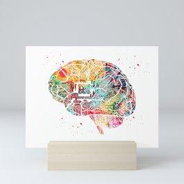 Circuit Brain Mini Art Print