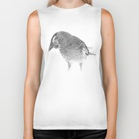crow Biker Tanks featuring crow by laurxy
