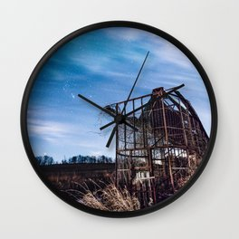 Delapitated in the Night Wall Clock