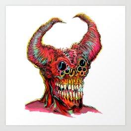 Demon Head Art Print
