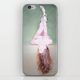 the ballerina mermaid iPhone Skin