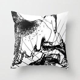 Flying Umbrellas Throw Pillow