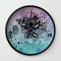 doodle Wall Clocks featuring Doodle by Maureen Mitchell