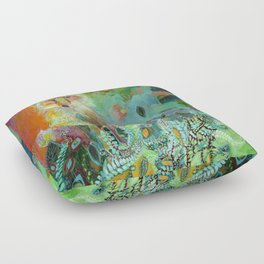 i am the forest path Floor Pillow