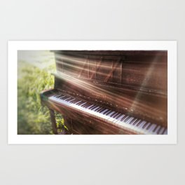 Abandoned Piano Art Print