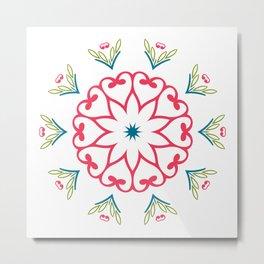 Patterns ornament Metal Print