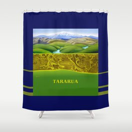 The Lie of the Land: Tararua Shower Curtain