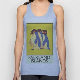 Falkland Islands travel poster Unisex Tank Top