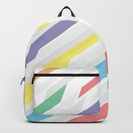 Tech geometric colorful lines background #society6 #decor #buyart #artprint Backpack