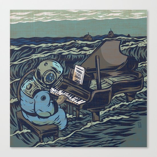 Symphony Of The Rising Tide Canvas Print