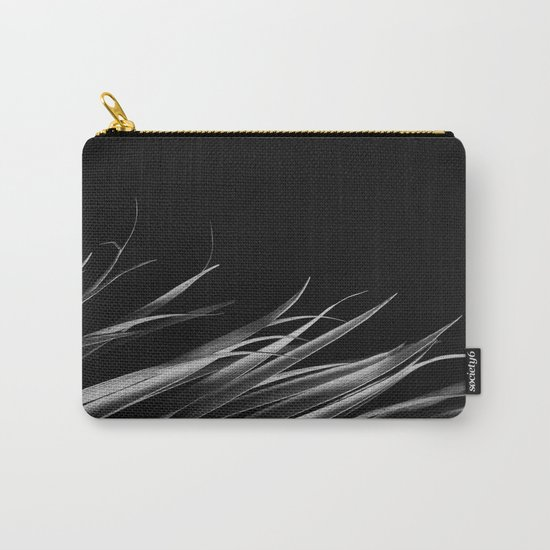 Dark palm leaf Carry-All Pouch