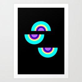 shapes on black -20- Art Print
