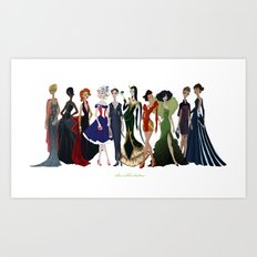 Avengers Gowns: Full Series Art Print