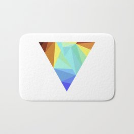 minimal geometry abstract art Bath Mat