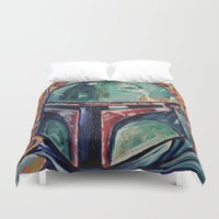 boba fett Duvet Covers featuring BOBA FETT by M. Ali Kahn
