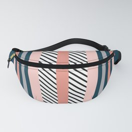 Colorful navy stripes Fanny Pack