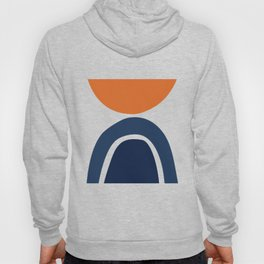 Abstract Shapes 25 in Burnt Orange and Navy Blue Hoody