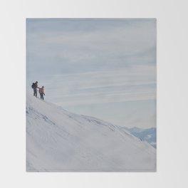 Skiers at Hatcher Pass Throw Blanket