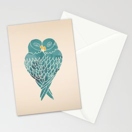 Love Birds (Blue) Stationery Cards