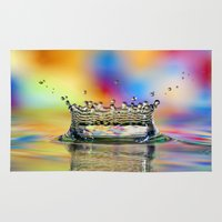 crown Area & Throw Rugs featuring Colorful Crown by ThePhotoGuyDarren