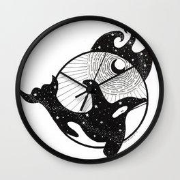 Cosmos Swimmer Wall Clock