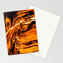 Abstract Gold Fire Paint I Stationery Cards