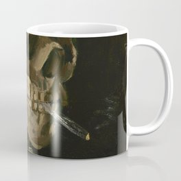 Vincent van Gogh - Head of a Skeleton with a Burning Cigarette (1886) Coffee Mug