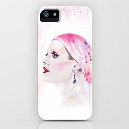 Rayon | Jared Leto in Dallas Buyers Club | Watercolor Portrait iPhone Case