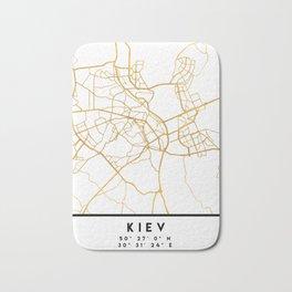 KIEV UKRAINE CITY STREET MAP ART Bath Mat