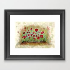poppy island Framed Art Print