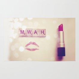 MWAH Lipstick Rose Scrabble Rug