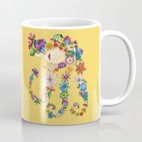sleeping beauty Mugs featuring Sleeping Beauty by Shelley Ylst Art