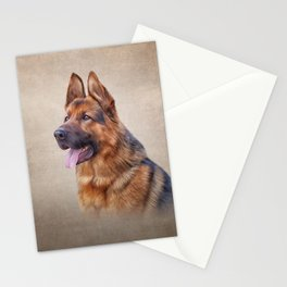 Drawing German Shepherd Dog Stationery Cards