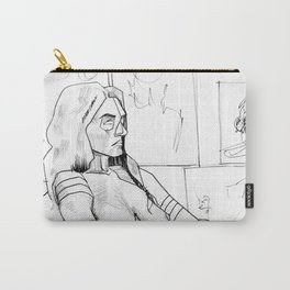 Seated Female Figure Carry-All Pouch
