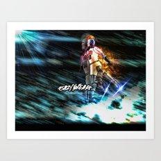 Mj Robo Cop Art Print