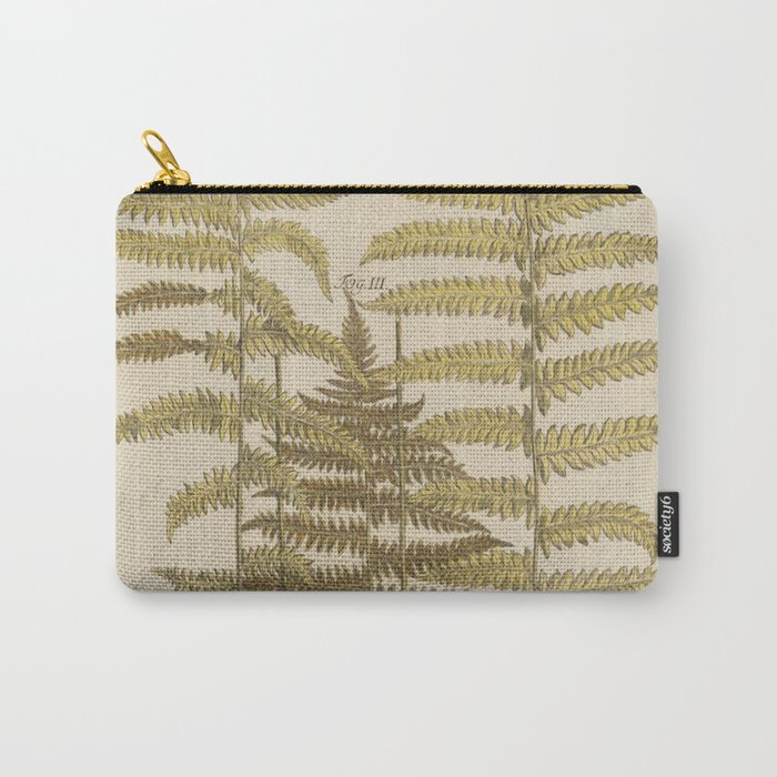 Vintage Fern Botanical Carry-All Pouch