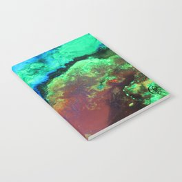 """Titan"" Mixed media on canvas, abstract art painting designs, contemporary artist colorful design Notebook"