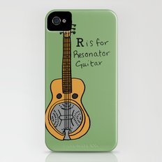 R is for Resonator Guitar iPhone (4, 4s) Slim Case