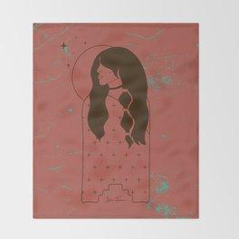 Moon Maiden in Adobe Throw Blanket