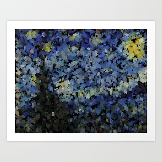 Panelscape Iconic - Starry Night Art Print
