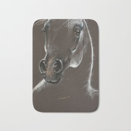 Arabian horse head sketch Bath Mat