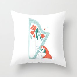 Floral Melody Throw Pillow