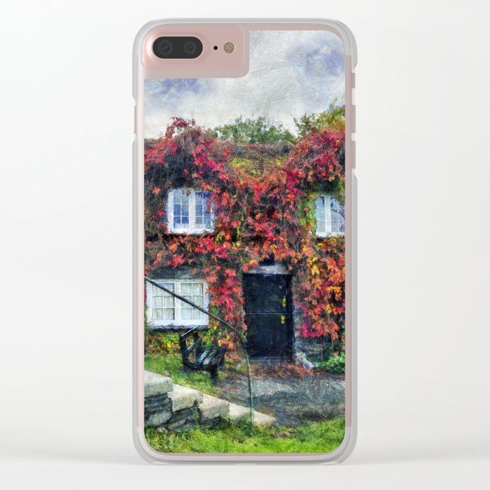 Autumn Cottage Clear iPhone Case