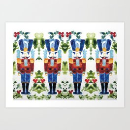Nutcracker Blue Art Print