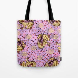 pentragram and frog Tote Bag