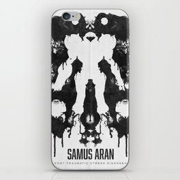 Samus Aran Metroid Geek Psychological Diagnosis Ink Blot  iPhone Skin