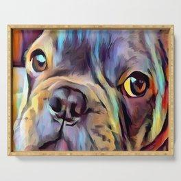 French Bulldog 4 Serving Tray