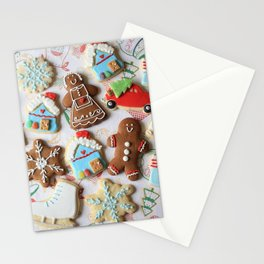 Holiday Christmas Cookie Gingerbread Stationery Cards