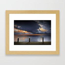 Watching the SunRise from a Boat Dock on Key Islamorada in the Florida Keys Framed Art Print